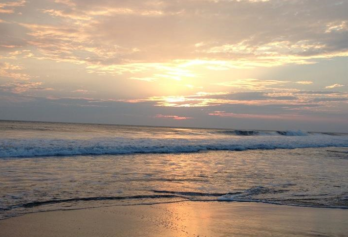 puesta del sol playa